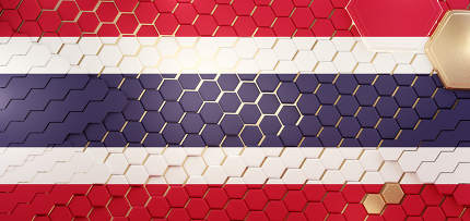Thailand hexagonal grid pattern design 3d-illustration backgroun