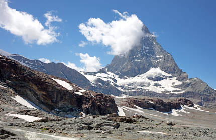 The Matterhorn, the iconic emblem of the Swiss Alps