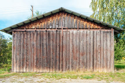 wooden agricultural hut