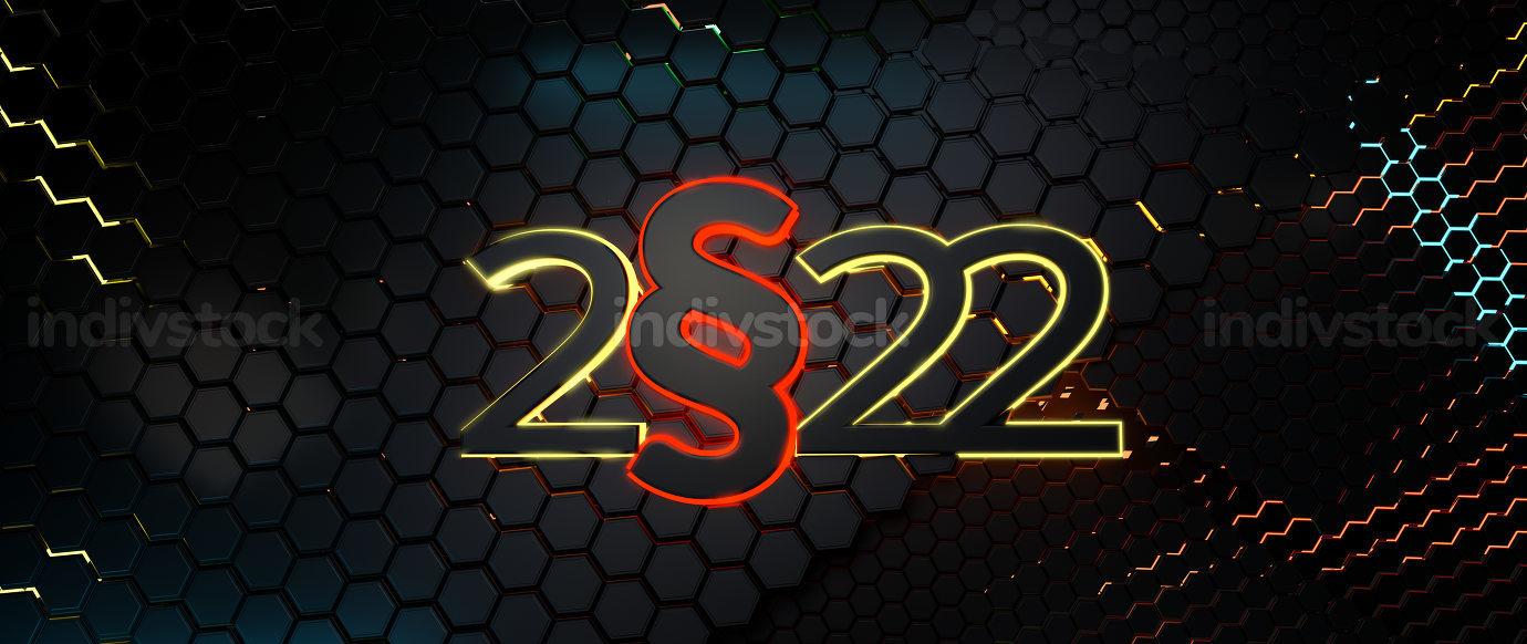 2022 paragraph background hexagonal design 3d-illustration