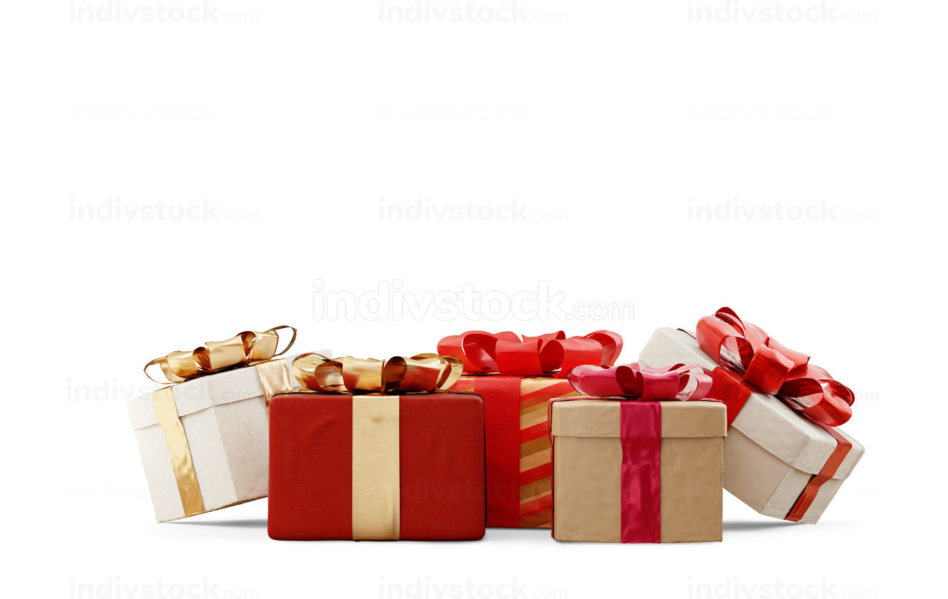 christmas gifts festive design 3d-illustration