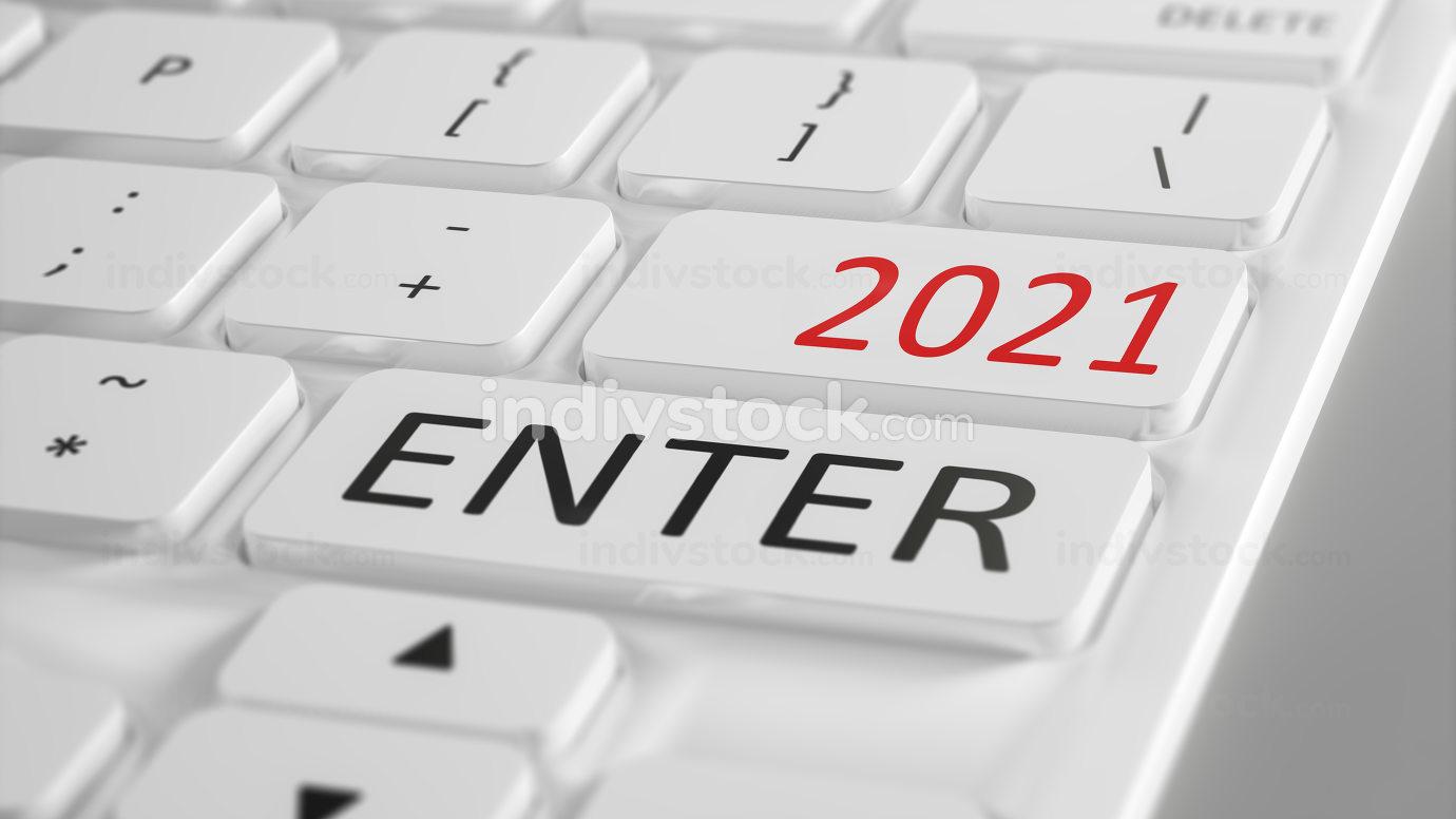 computer keyboard enter New Year 2021