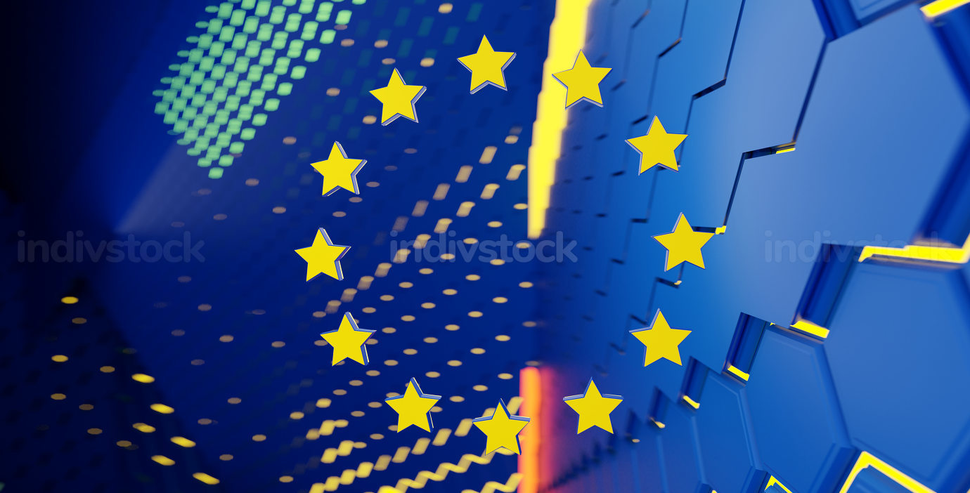 creative concept of the flag of Europe, background 3d-illustration