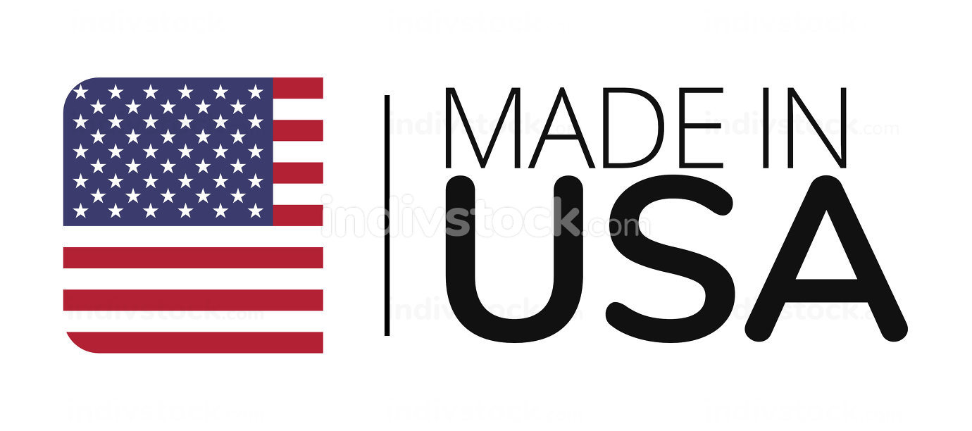 made in USA. a clean design with a simplified compact symbol of