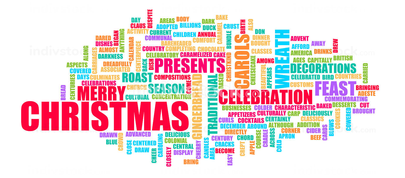 Merry Christmas Creative Background Greeting Card