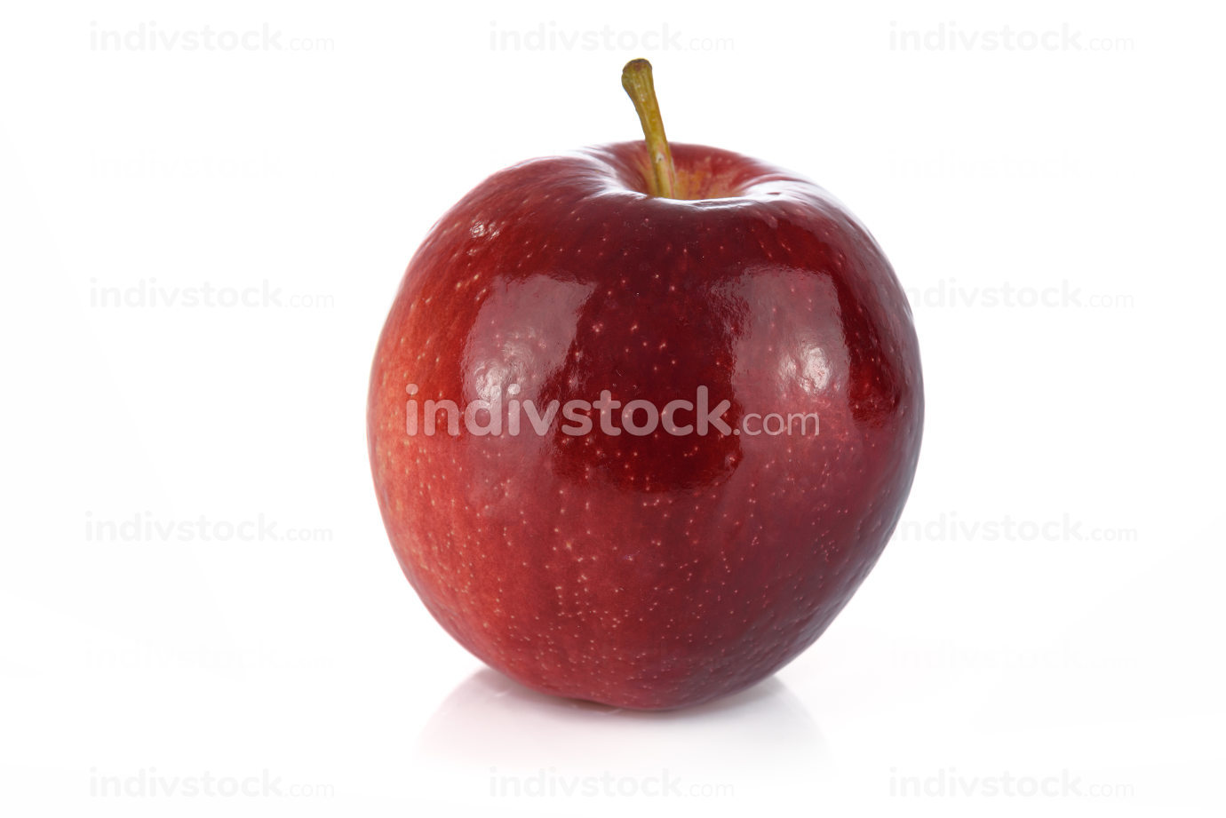 Perfect red ripe apple isolated on white background