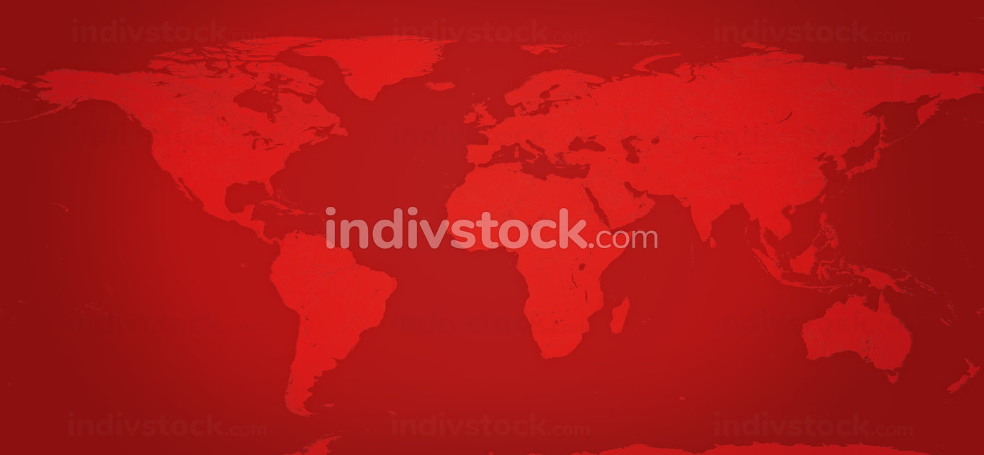red world map background. 3d-illustration elements of this image furnished by NASA