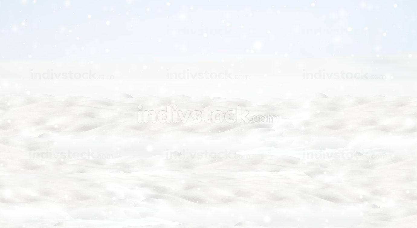 white snow background 3d-illustration