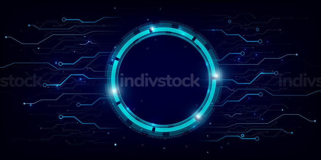 Abstract background electronic print circuit dot and line 010