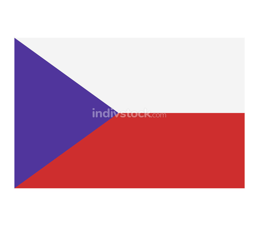 Czech Republic flag illustrated in vector on white background