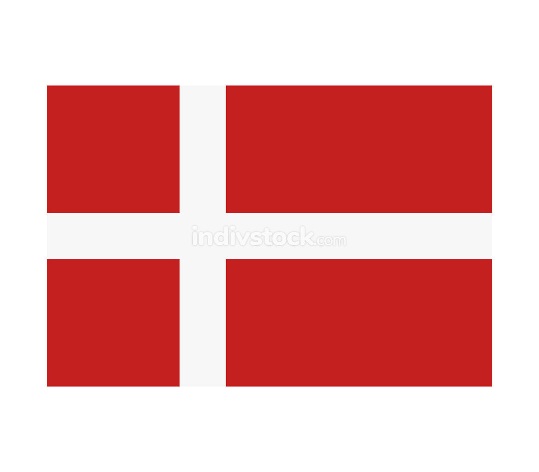denmark flag illustrated in vector on white background