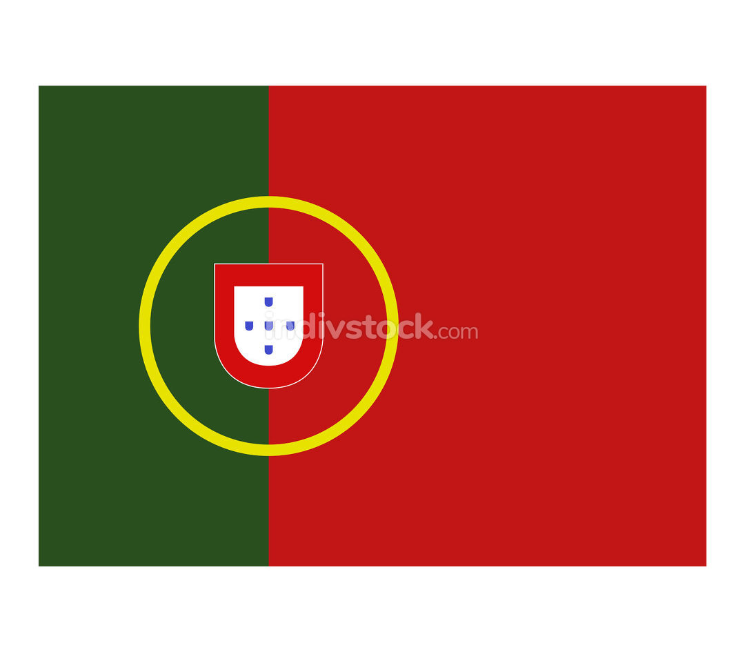 portugal flag illustrated in vector on white background