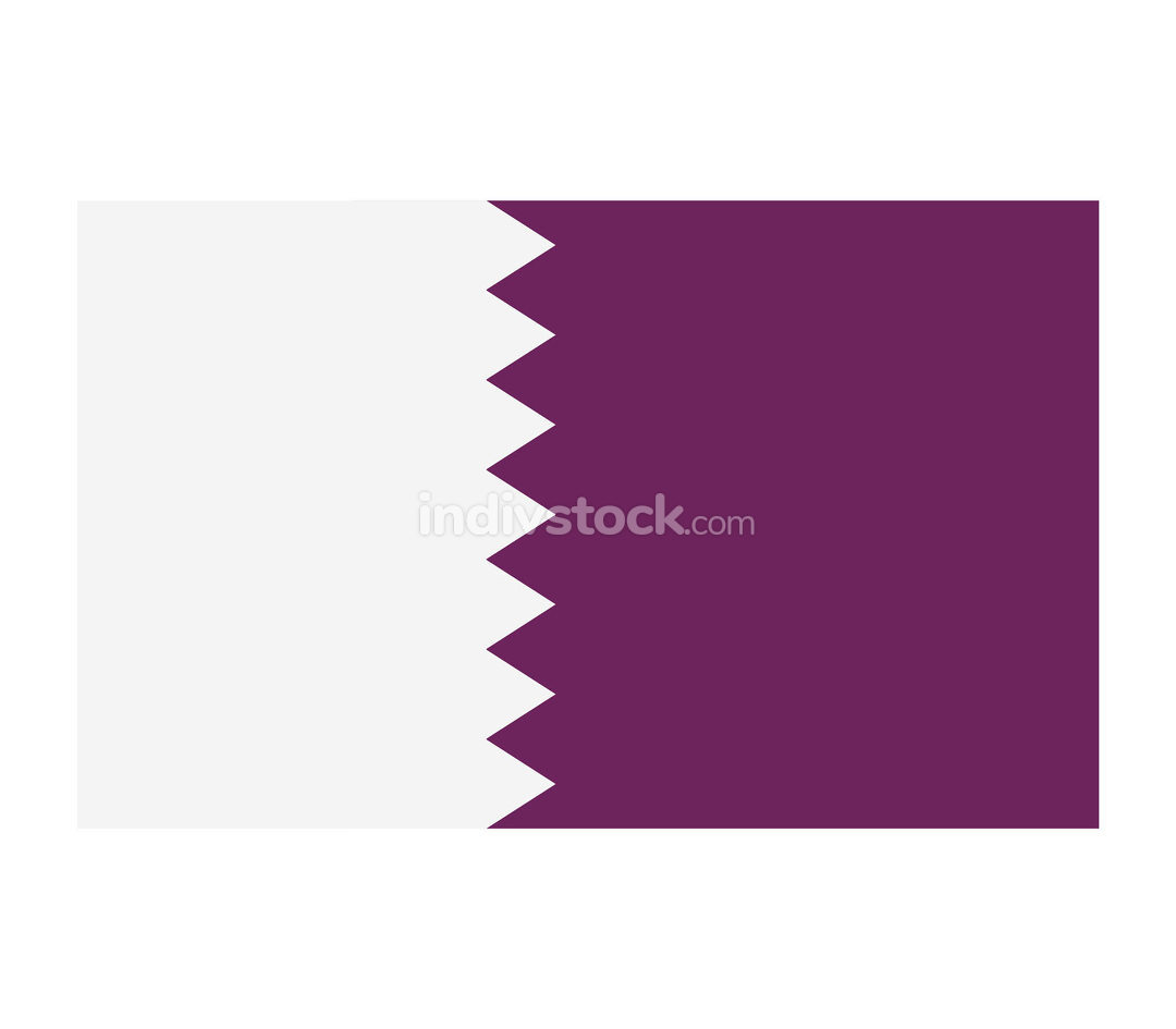 Qatar flag illustrated in vector on white background