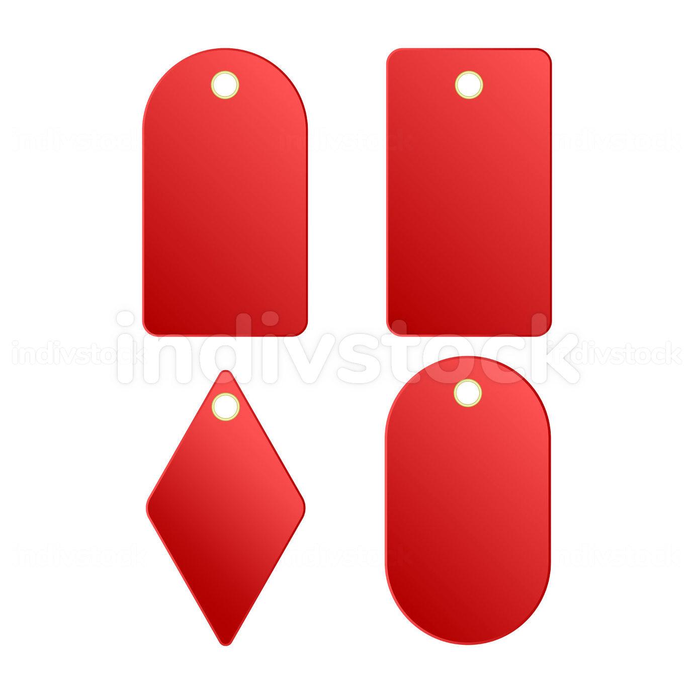 Red badge or labels. Elegant design