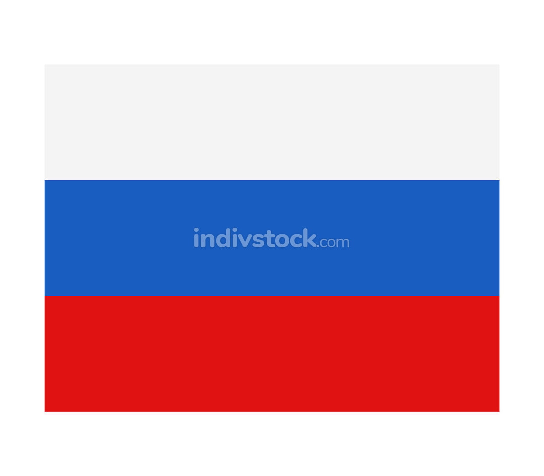 russia flag illustrated in vector on white background