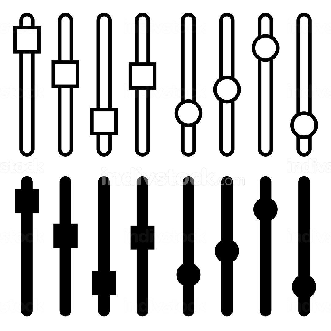 Setting panel or preference slider icon. Vector illustration for