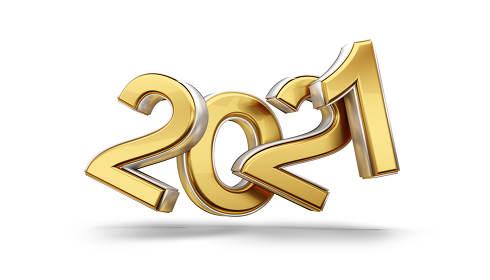2021 golden symbol design 3d-illustration
