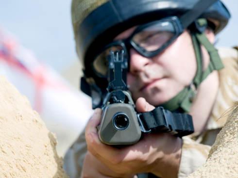 British Royal Commando aiming at you