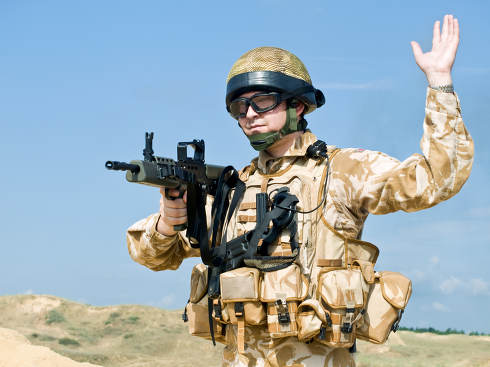 British Royal Commando in action