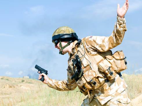 British Royal Commando on mission