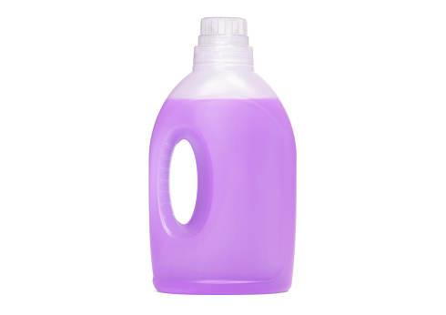 Detergent bottle, purple liquid washing soap for textile