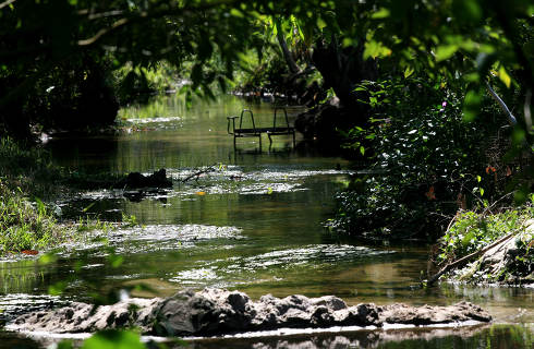 eunapolis, bahia Brazil, august 22, 2008, View of the Jardim River