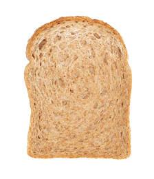 Healthy whole wheat bread slice