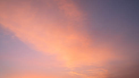 Morning sky with pastel-colored clouds