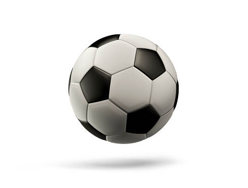 soccer ball isolated with shadow 3d-illustration