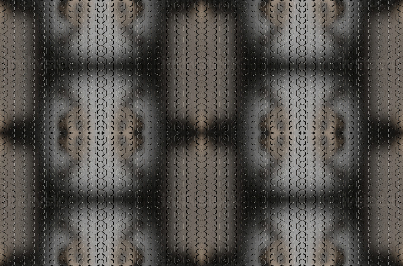 hexagonal grid metallic dark modern background 3d-illustration