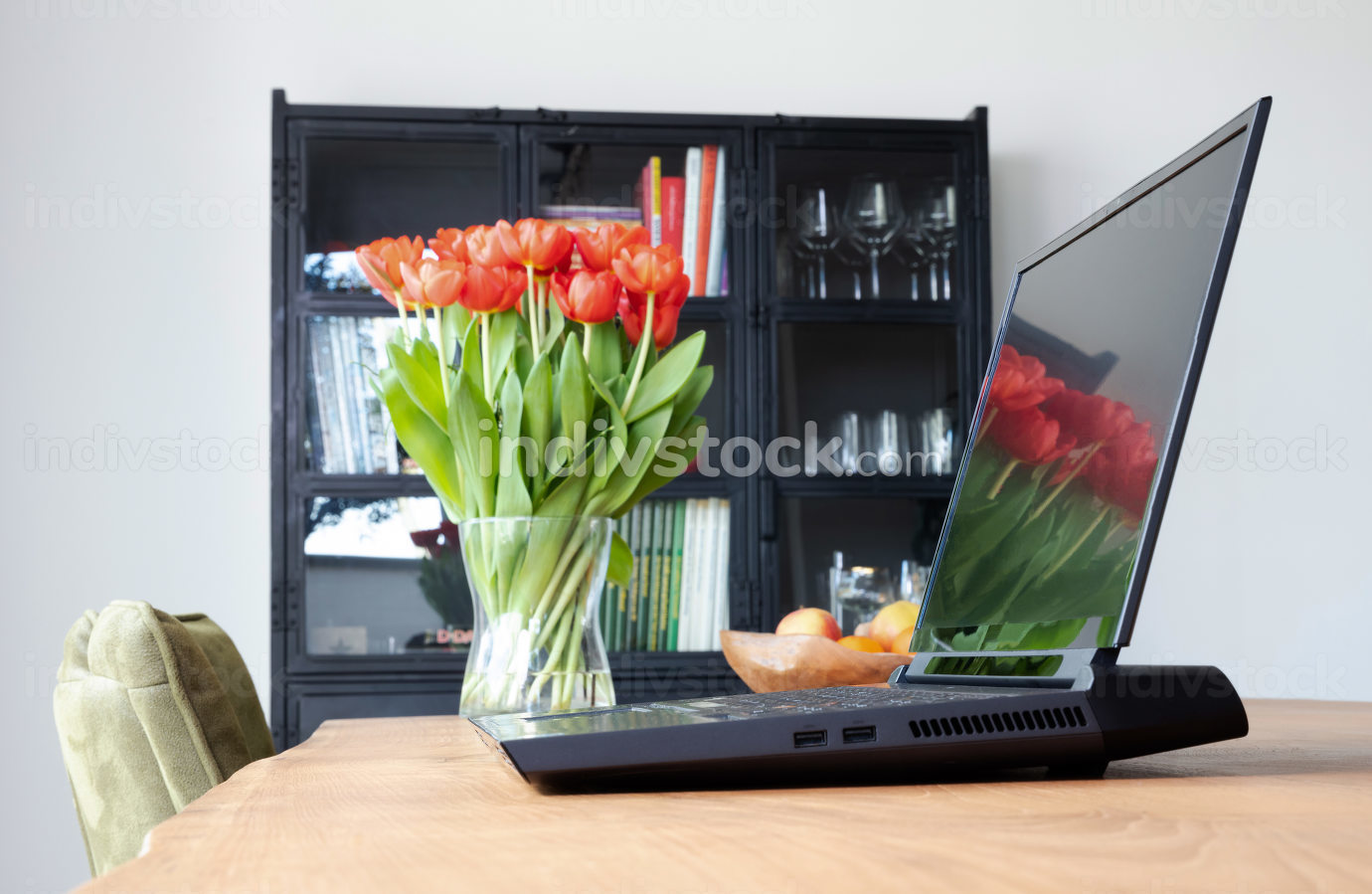 Modern black laptop