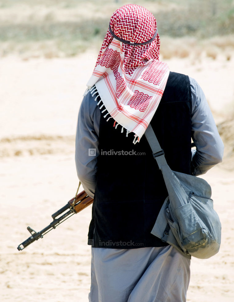 Muslim rebel with rifle
