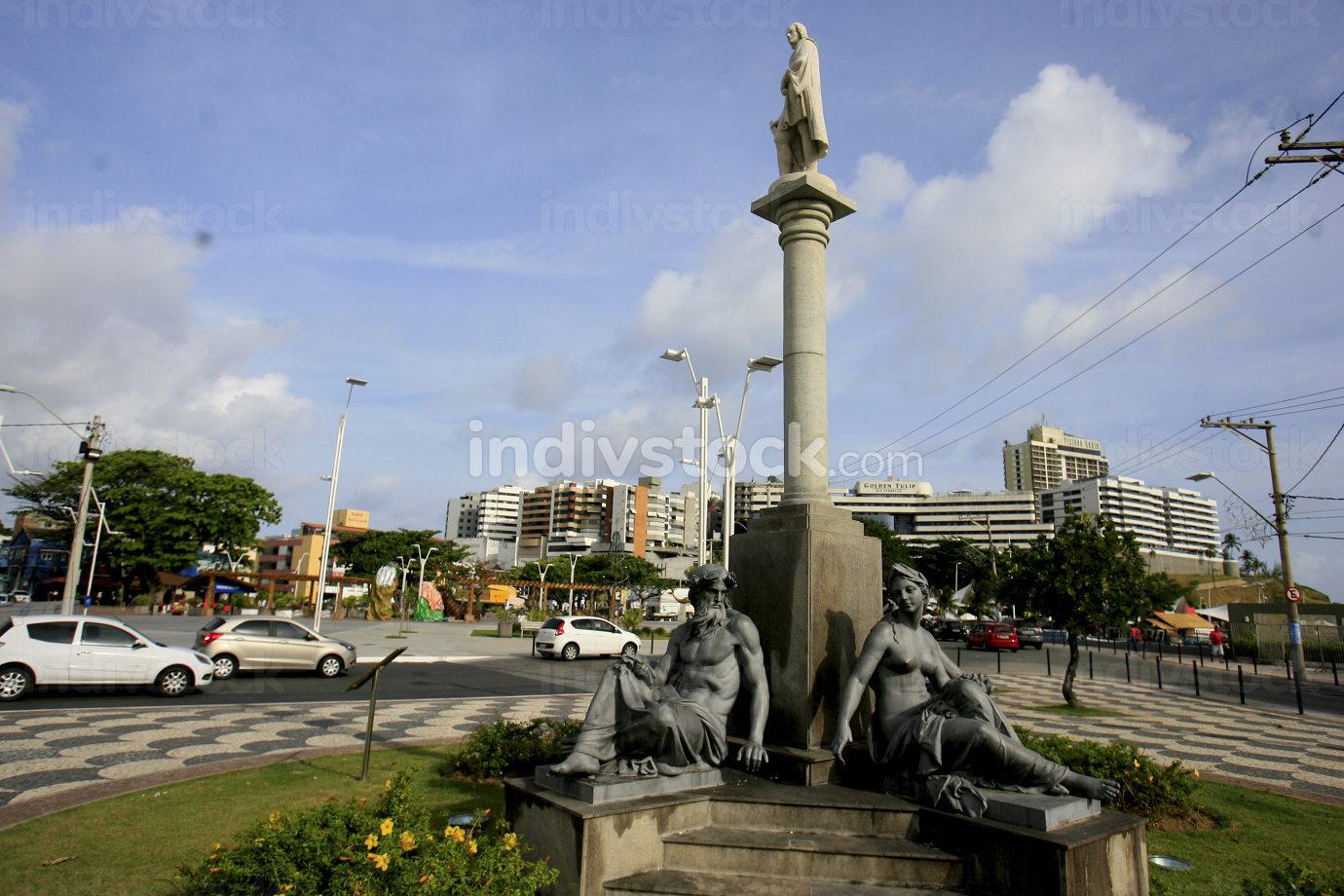 salvador, bahia Brazil, december 28, 2016, sculptures are seen in the Largo da Mariquita region in the Rio Vermelho neighborhood in the city of Salvador.