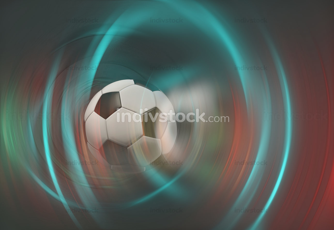 soccer ball creative abstract background graphic 3d-illustration