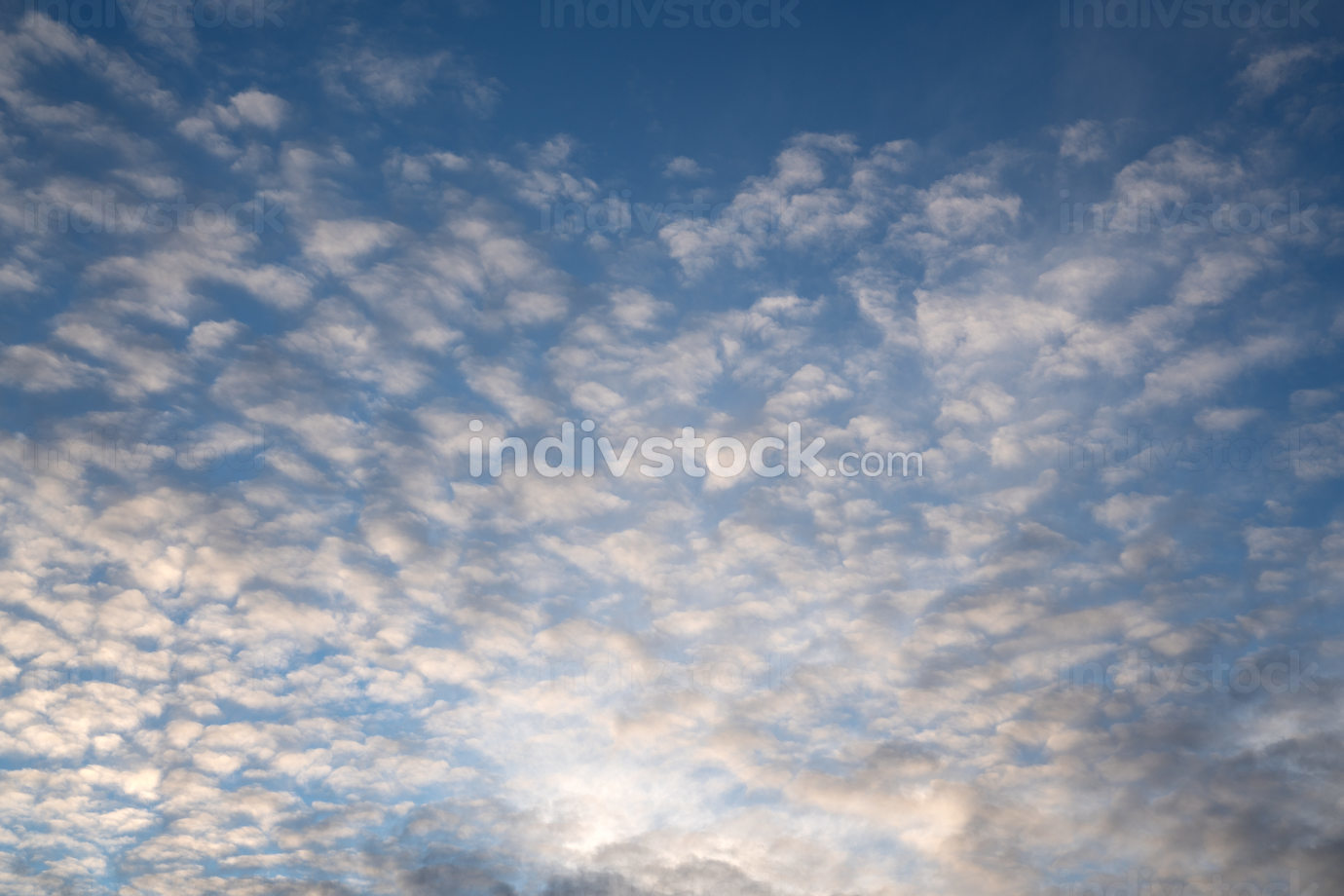 Sunny sky with feathery clouds