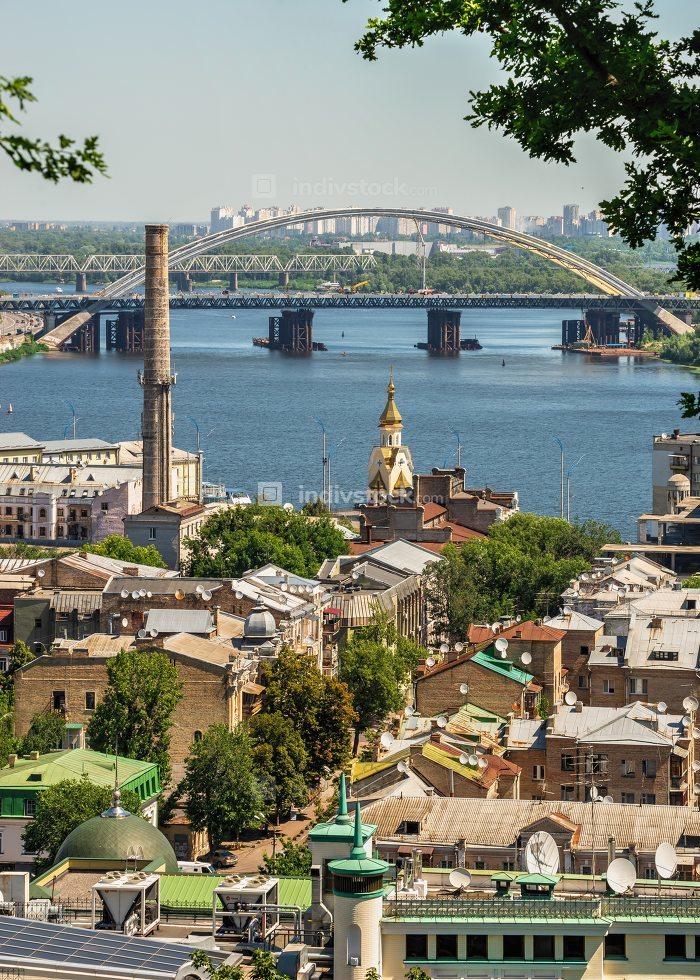Top view of Kiev, Ukraine