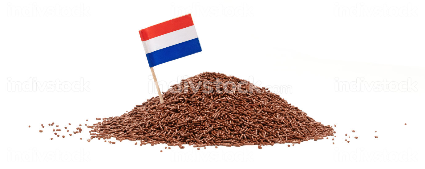 Typical dutch chocolate sprinkles  hagelslag