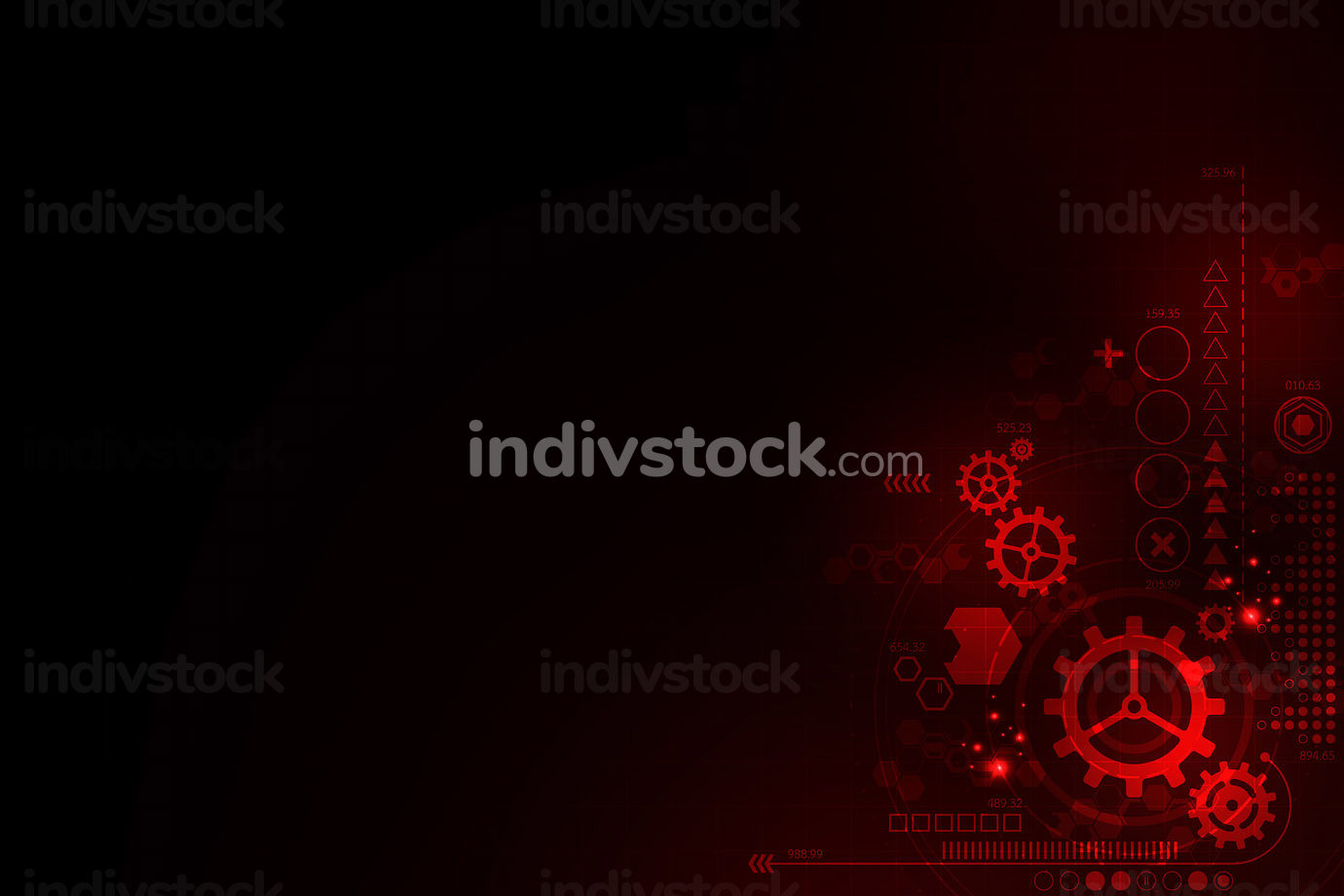 Background designed with the concept of technology.