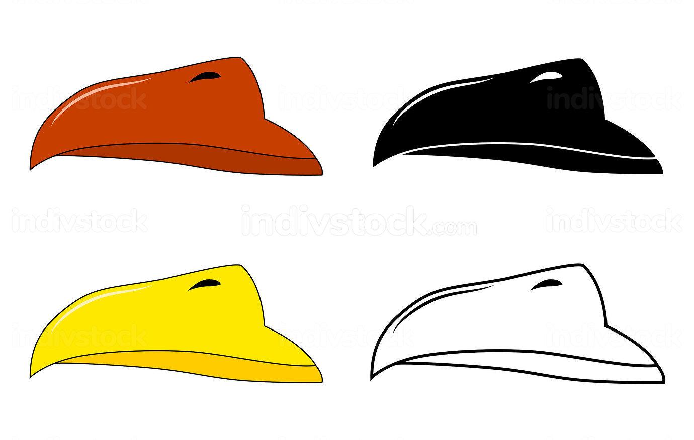 Beak of bird vector set. Illustration isolated on white backgrou