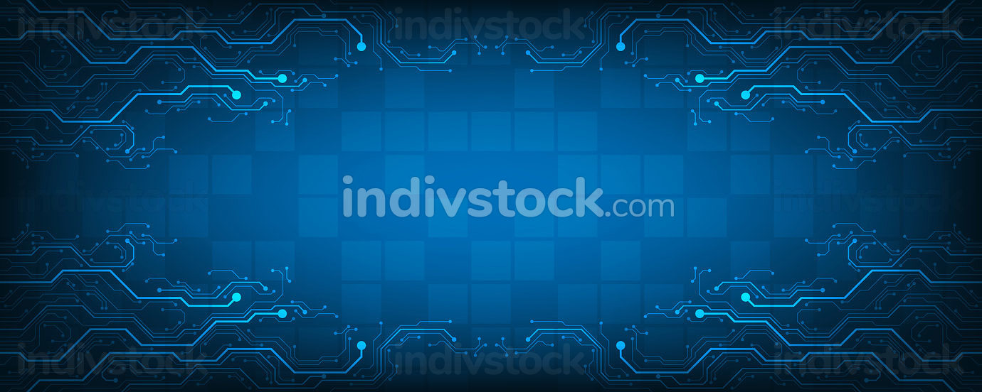 Design in the concept of electronic circuit boards.