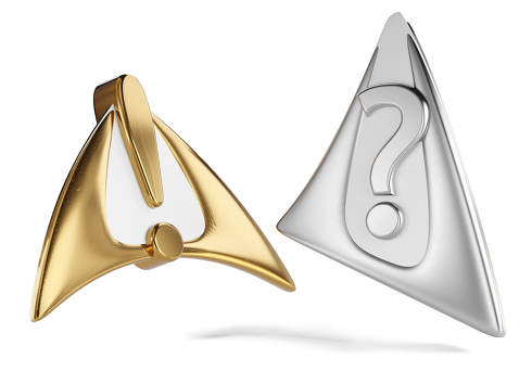 exclamation mark and question mark golden and silver 3d-illustration