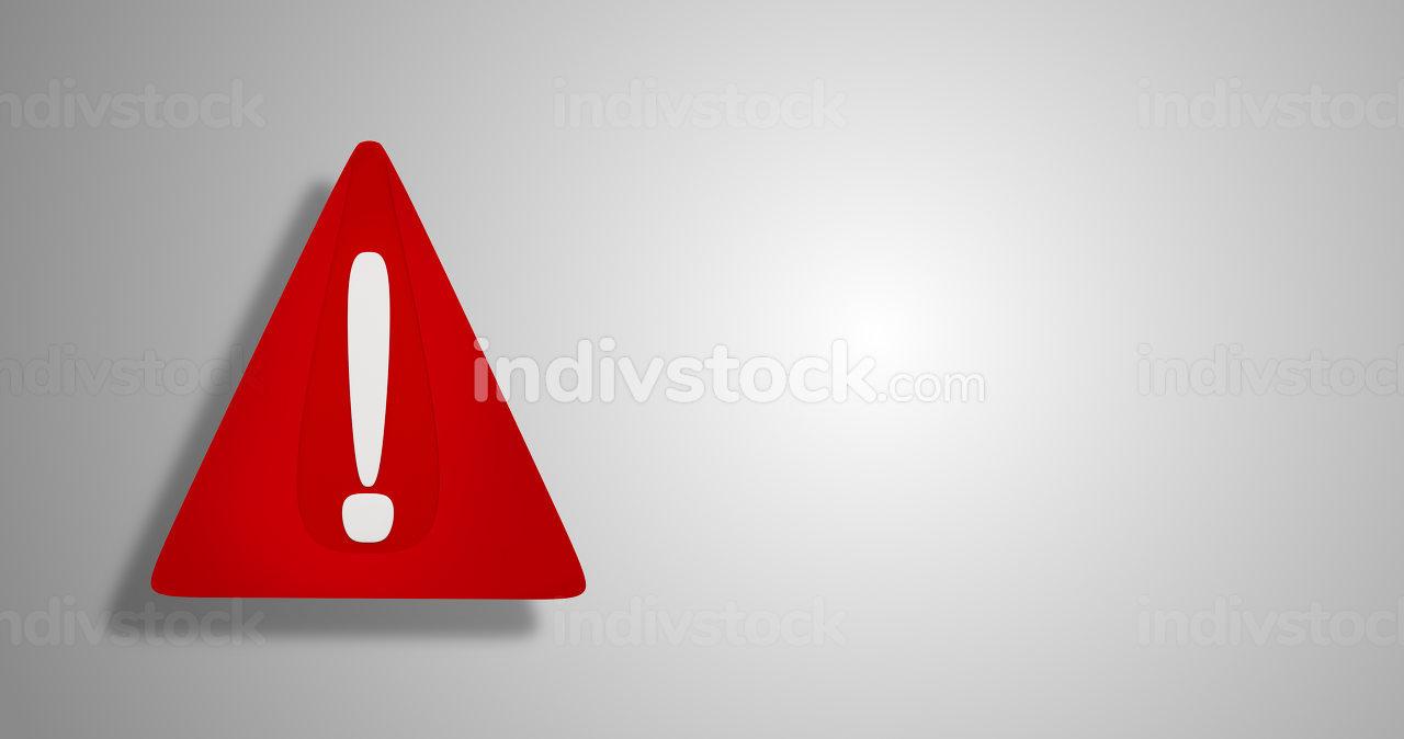 3d-illustration red warning sign design