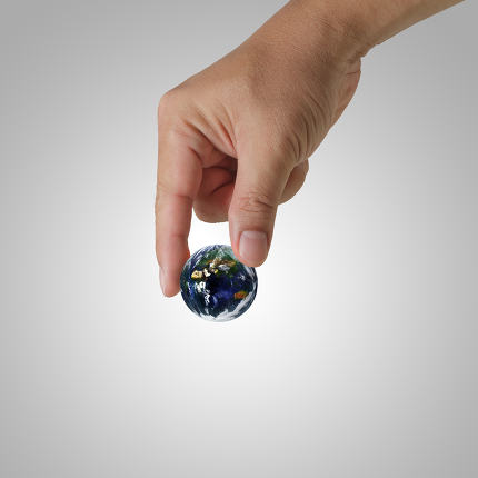 hand pick the earth