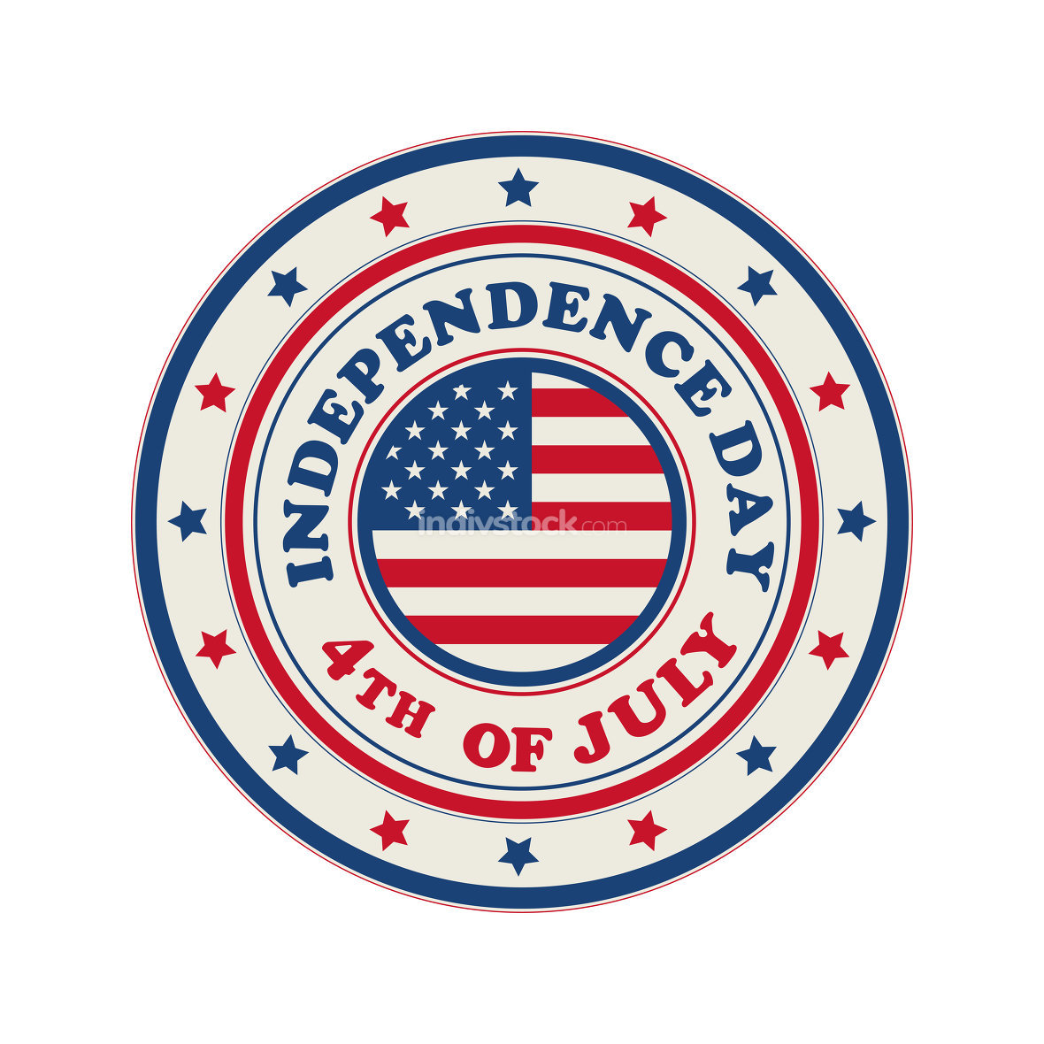 4th of July Independence Day stamp