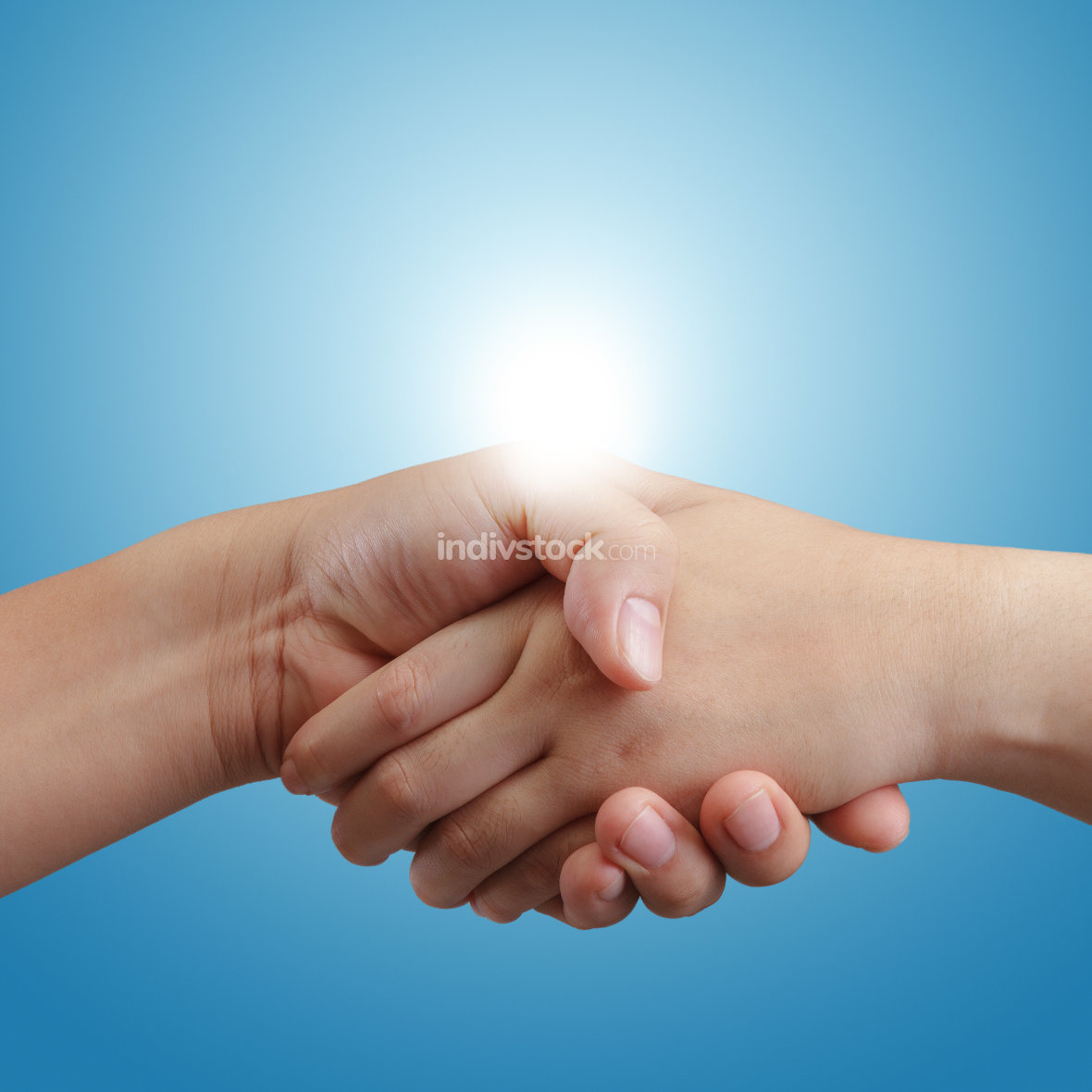 handshake and sunlight