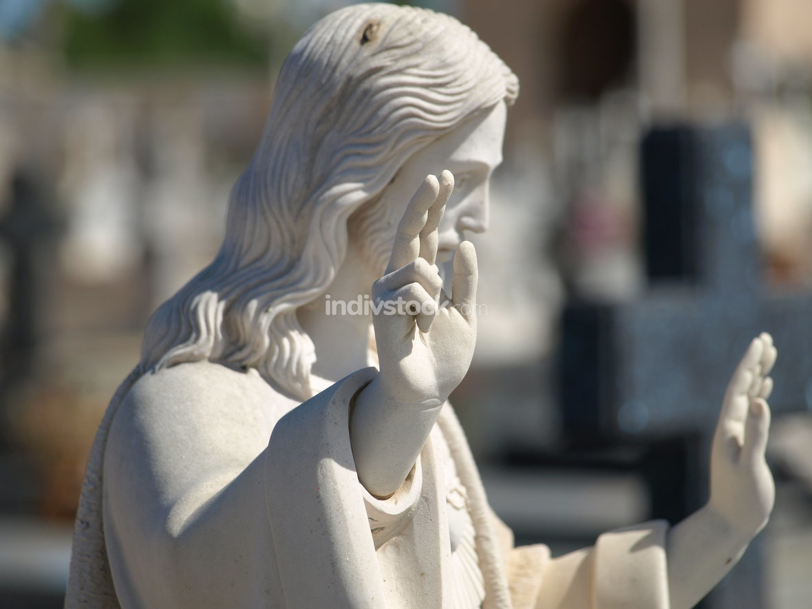 Jesus Statue at Cemetery