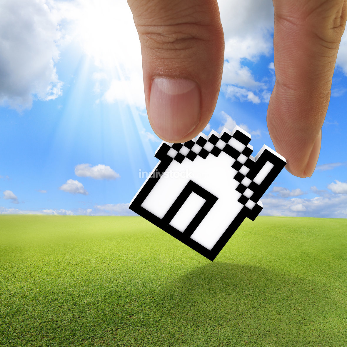 pixel house icon