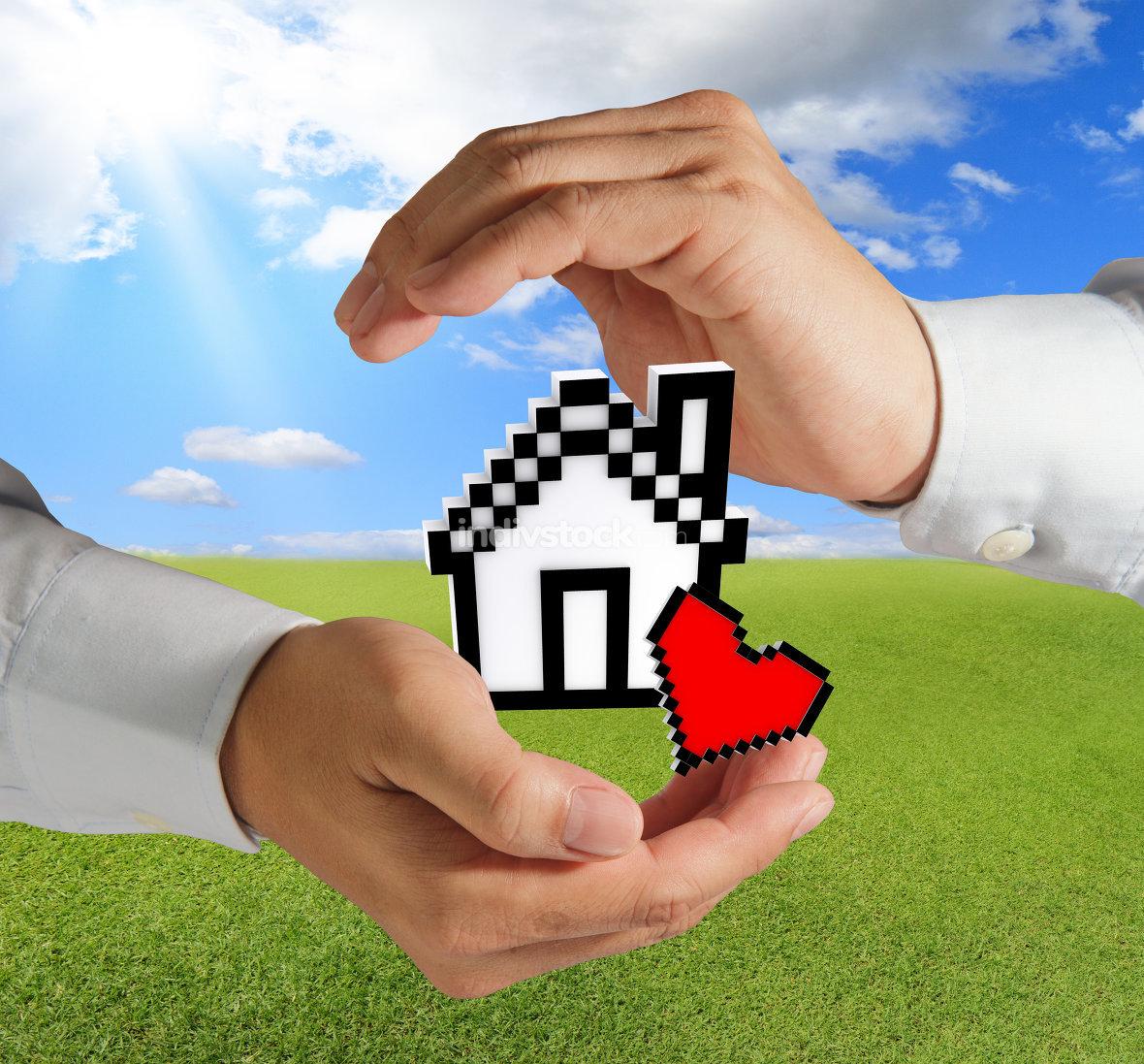 pixel love house